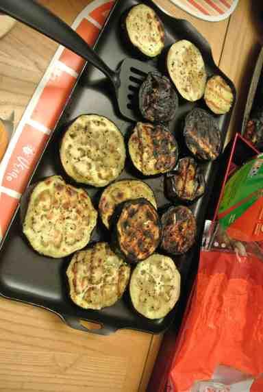 Eggplant sliders!