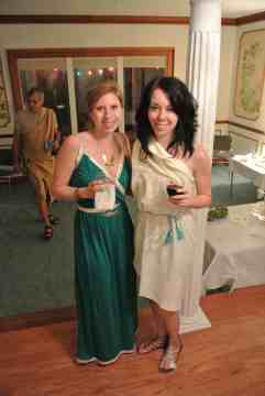 Make a gorgeous teal grecian dress!