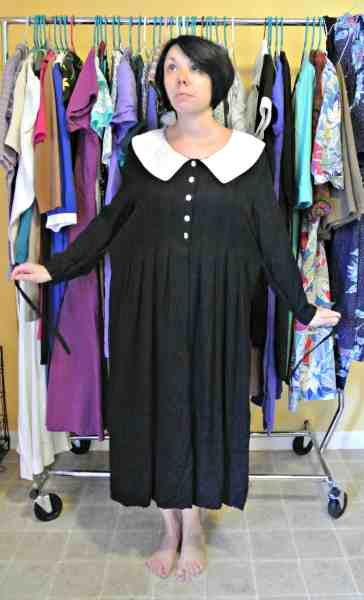 frumpy collared dress refashion