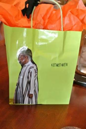 I decorated his bag myself!  :)