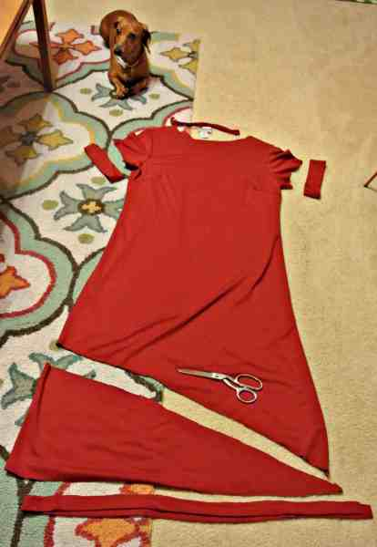 creating no sew refashioned dress