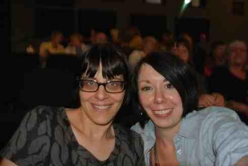 Happy film goers!  :)