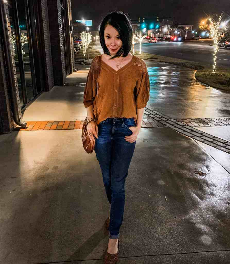 refashionista in refashioned anthropologie inspired top