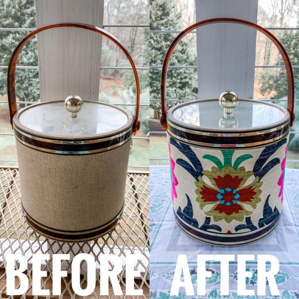 refashionista diy upcycled ice bucket before and after main image