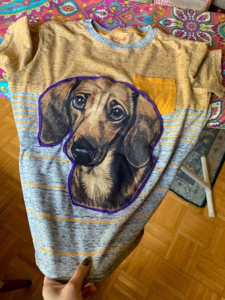 A Darling Dachshund Applique T-Shirt Refashion 3