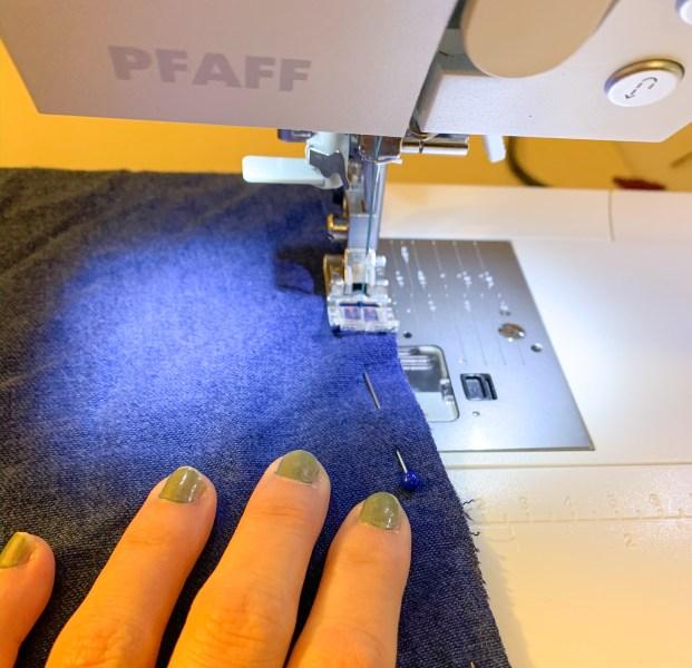 stitching skirt side seam
