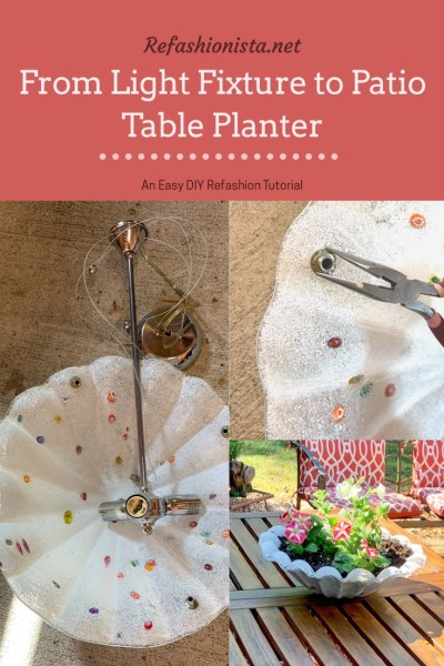 From Light Fixture to Table Planter