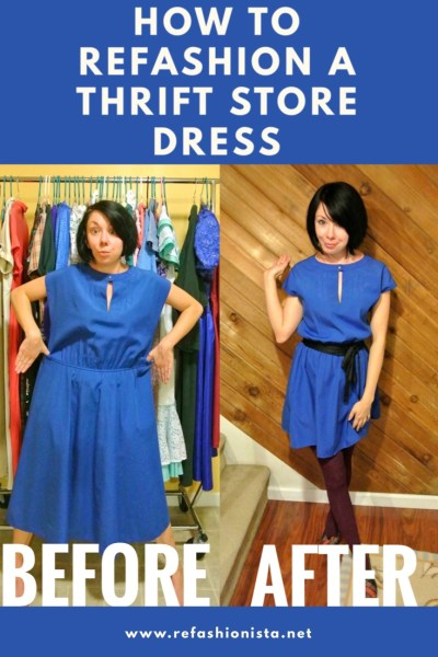 dress refashion before and after