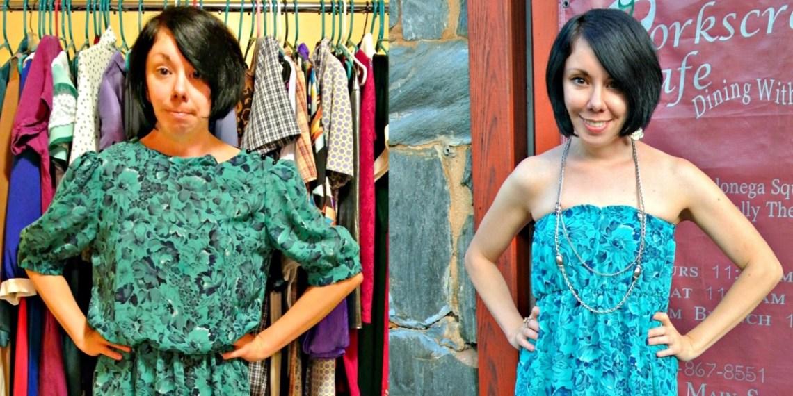A DIY Strapless Dress Refashion 1