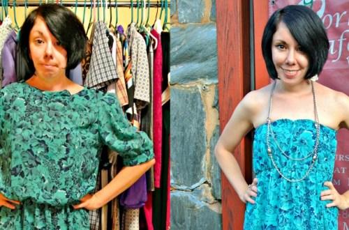 A DIY Strapless Dress Refashion 20