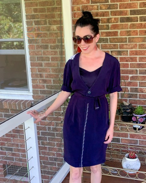 refashionista Refashioning a Collared Thrifted Dress After