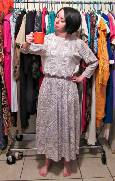 No sew dress to top refashion before
