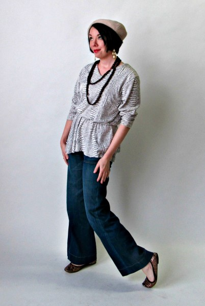 No sew dress to top refashion after