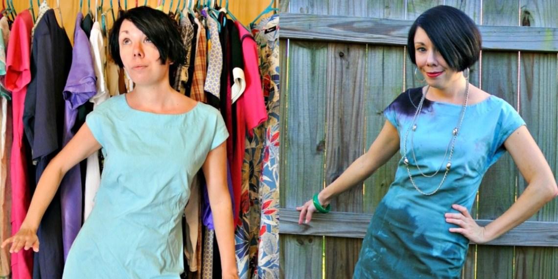 When I Dip You Dip We Dip Dye Dress Refashion 14