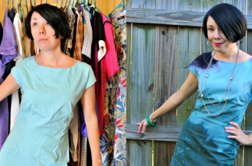When I Dip You Dip We Dip Dye Dress Refashion 16