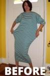 Day 48: A Stripey DIY Strapless Dress Refashion 2