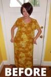 Day 64: No-Sew Refashion: An Elegant Twist & Cinch Dress 2
