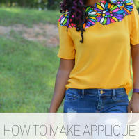 Troy's #NoSew Applique #Refashion