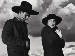 Georgia O'Keeffe and Orville Cox at Canyon de Chelly, 1945.