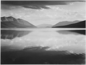 Evening at McDonald Lake Glacier National Park, Montana, 1933.