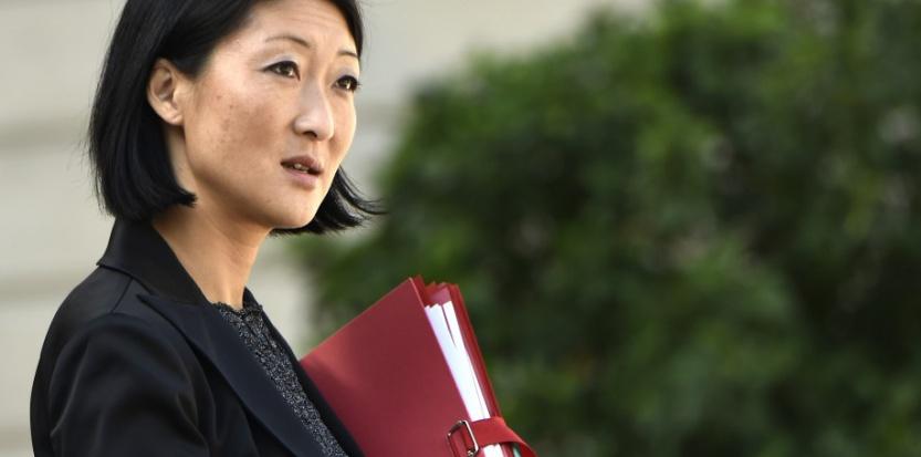 Fleur Pellerin à la sortie du conseil des ministres le 25 septembre 2014, à Paris (LIONEL BONAVENTURE/AFP).