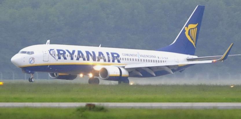 Un avion de la compagnie Ryanair DR