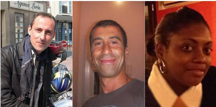 Franck Brinsolaro, Ahmed Merabet et Clarissa Jean-Philippe. Capture d'écran/SIPA/SIPA