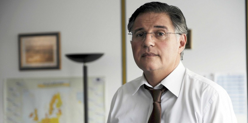 Bernard Petit, en septembre 2010, à la tête de la DCPJ de Nanterre (Direction de la lutte contre la criminalité organisée et la délinquance financière). (Jérôme Mars/JDD/SIPA)