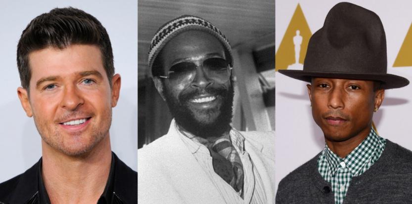 Robin Thicke et Pharrell Williams ont été lourdement condamnés pour avoir plagié un tube du légendaire Marvin Gaye. AFP
