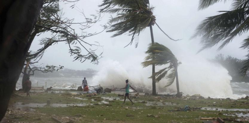 Le 14 mars à Port Vila, au Vanuatu, dans le Pacifique, aps le passage de l'ouragan Pam. (Sipa)