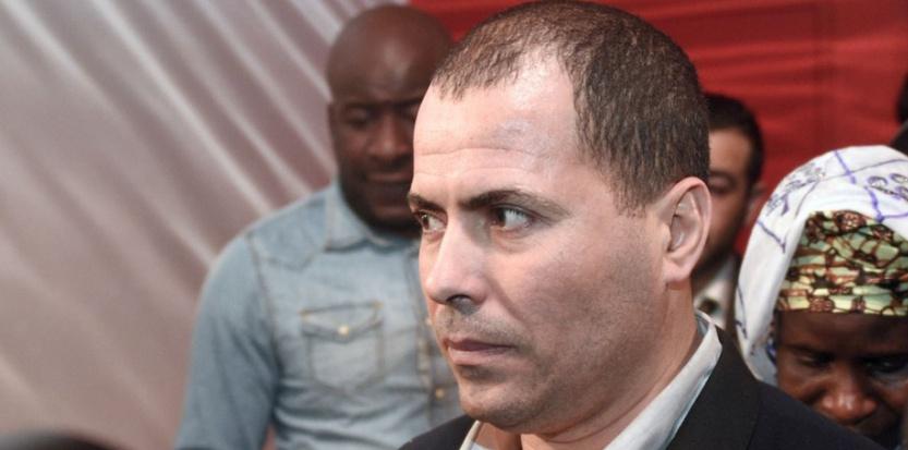 Le frère de Zyed Benna, lundi 16 mars à Rennes. (DAMIENMEYER/AFP)