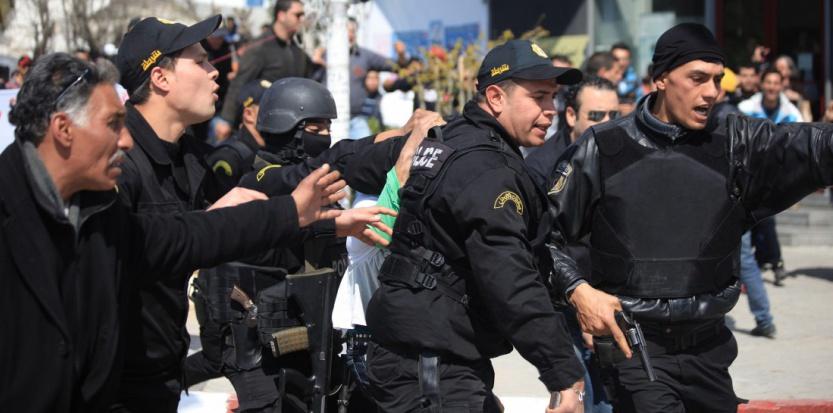 La police tunisienne a procédé à l'arrestation d'un suspect jeudi après-midi. (YASSINE GAIDI/ANADOLU AGENCY)