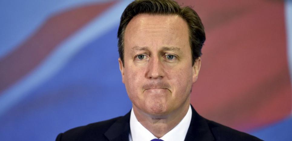 Le Premier ministre britannique David Cameron a été réélu le 7 mai pour un second mandat. (TOBY MELVILLE / POOL / AFP)