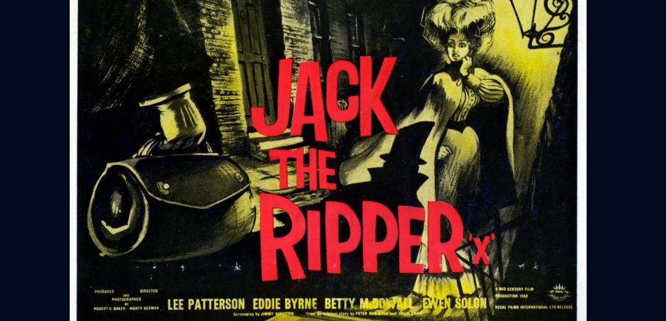 Jack l'éventreur. Affiche réalisée par Robert S Baker et Monty Berman en 1959. © RONALDGRANT/MARY EVANS/SIPA