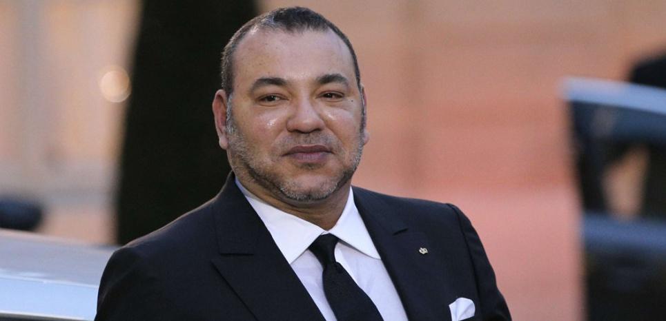 Le roi Mohammed VI, le 9 février 2015 à Paris. (ChristopheEna/AP/SIPA)