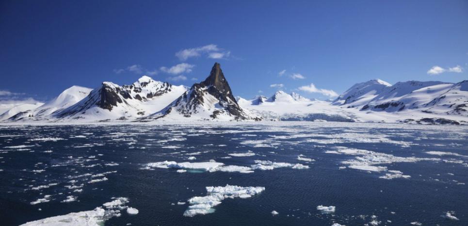 Le fjord Hornsund, à Spisbergen (Norvège). © superstock/sipa