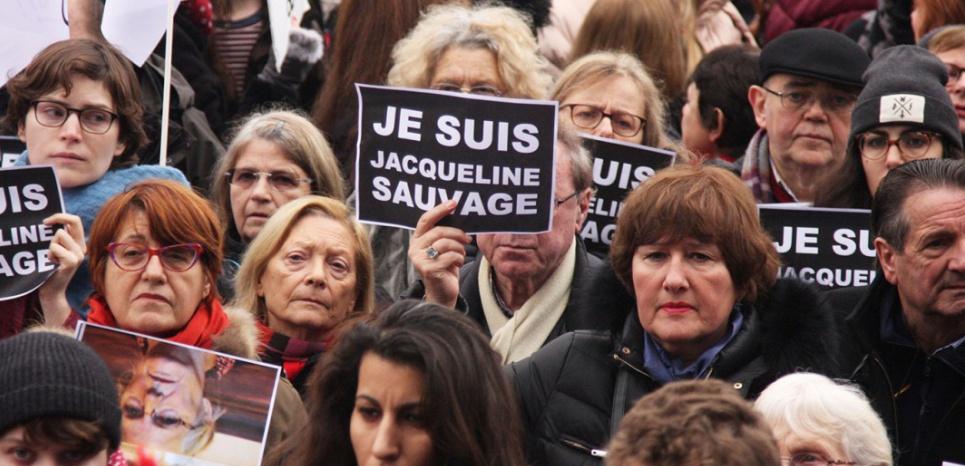 Manifestation de soutien à Jacqueline Sauvage, 23 janvier 2016, Paris. (SIPA/SEVGI)