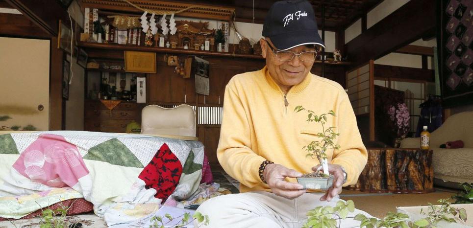 Katsutoshi Kusano est de retour dans son village de Kawauchi, préfecture de Fukushima. NEWSCOM/SIPA