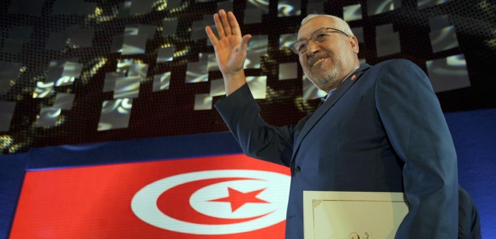 Rached Ghannouchi le président d'Ennahda en 2014 FETHI BELAID / AFP