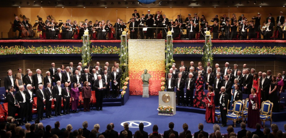Remise des prix Nobel 2015 à Stockholm, le 10 décembre 2015. © SOREN ANDERSSON / AFP