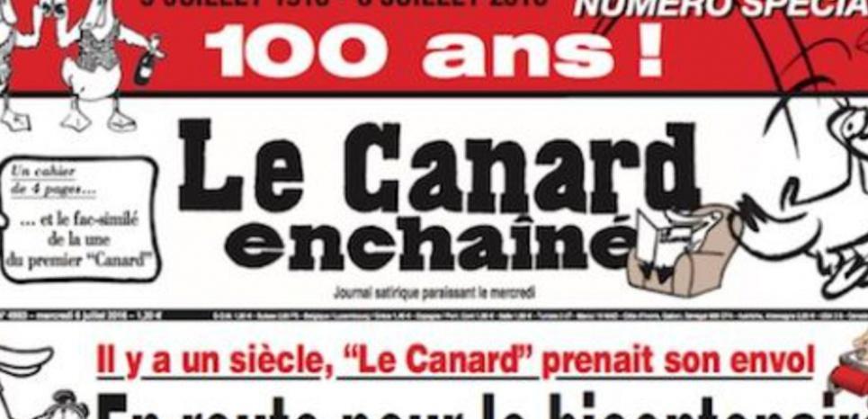 """Le """"Canard """" : 100 ans de pavés dans la mare"""