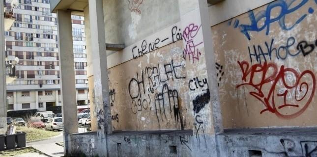 Quartier du Chêne Pointu, Clichy-sous-Bois, en février 2012 (AFP/ Alexandre Klein)