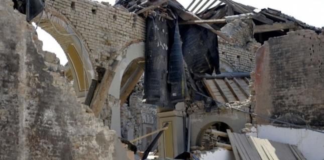 Une église effondrée à Medolla, à 3 km de l'épicentre du séisme du 29 mai 2012. (Marco Vasini/AP/SIPA)