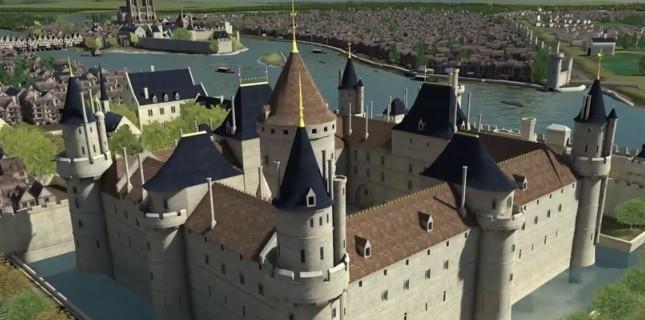 Le Louvre sous Charles V, vers 1350. (Dassault Systèmes)