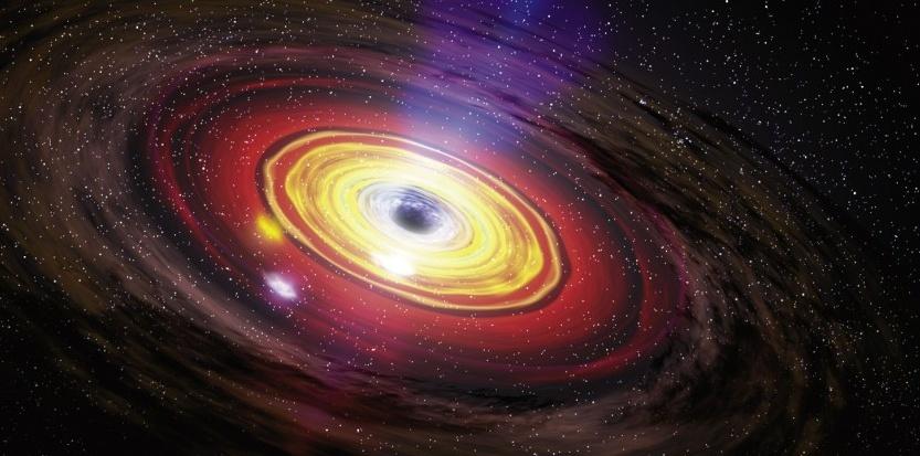 Illustration d'artiste de l'explosion du trou noir supermassif de la Voie Lactée, il y a deux millions d'années. NASA/Dana Berry/SkyWorks Digital