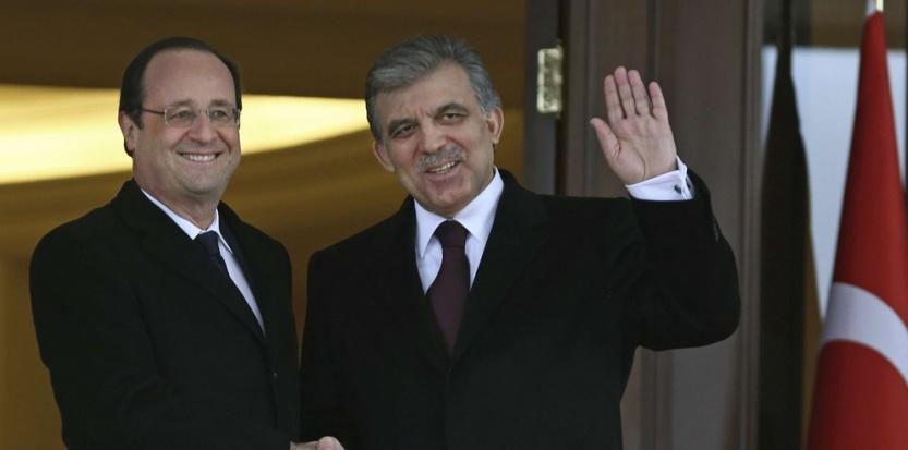 François Hollande et le président turc Abdullah Gül. (Burhan Ozbilici/AP/SIPA)