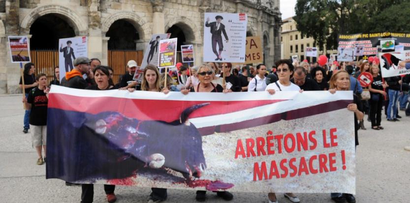 Manifestants anti-corrida