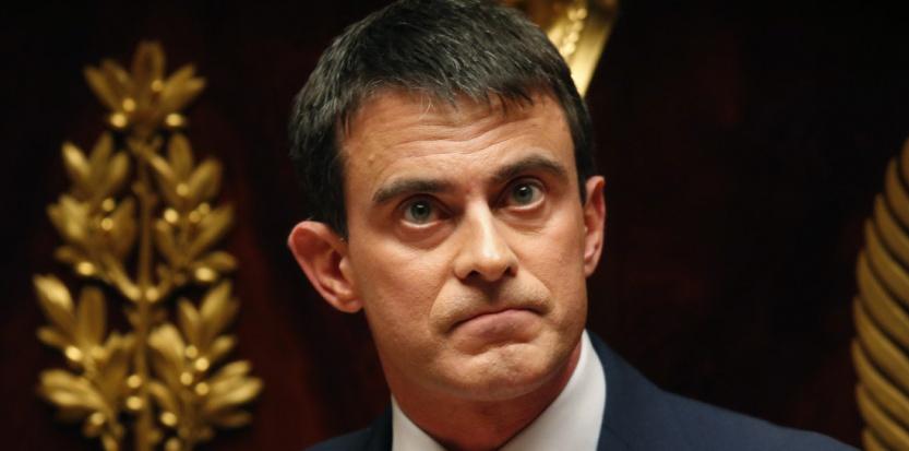 Manuel Valls, le 29 avril 2014 à l'Assemblée. (Charles Platiau/REUTERS)