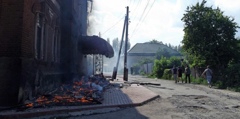 Une rue de Slavyansk. (AFP PHOTO / Andrey Krasnoschekov)