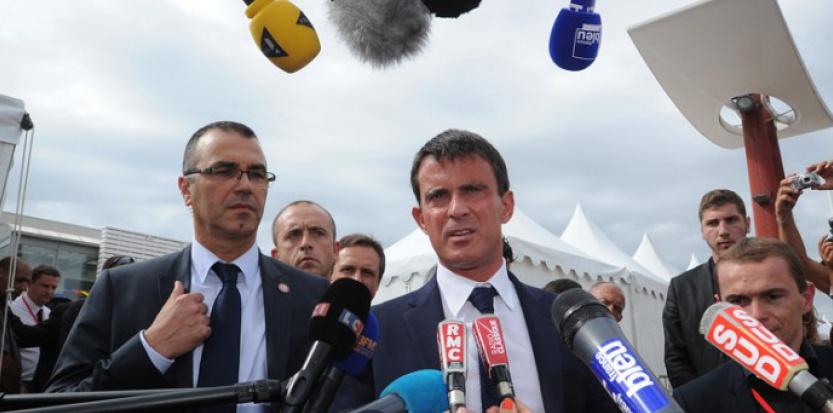 Manuel Valls, le 28 août 2014. (XAVIER LEOTY/AFP)